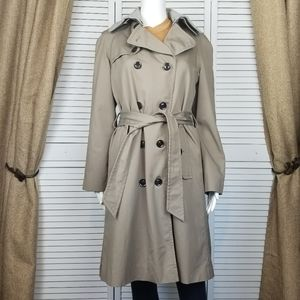 Gap double breasted wool lined trench coat Sz S